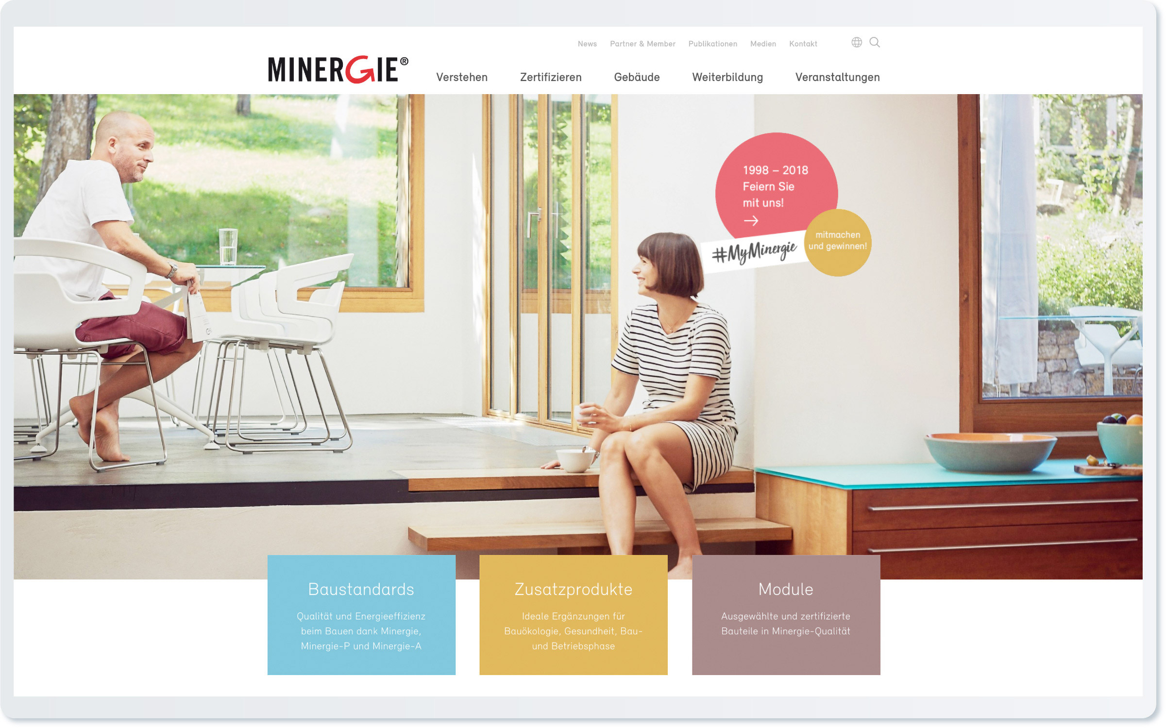 Minergie Landing Page