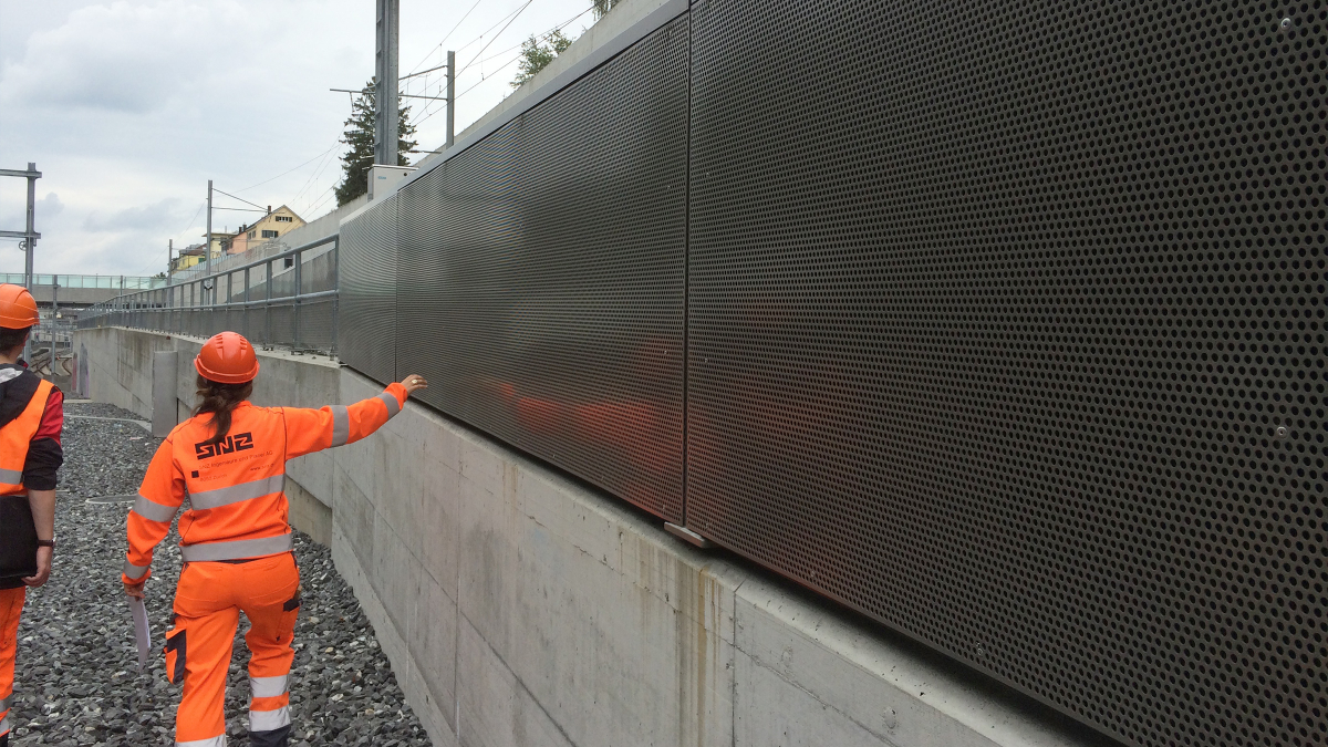 Noise control along the Zurich-Oerlikon railway line