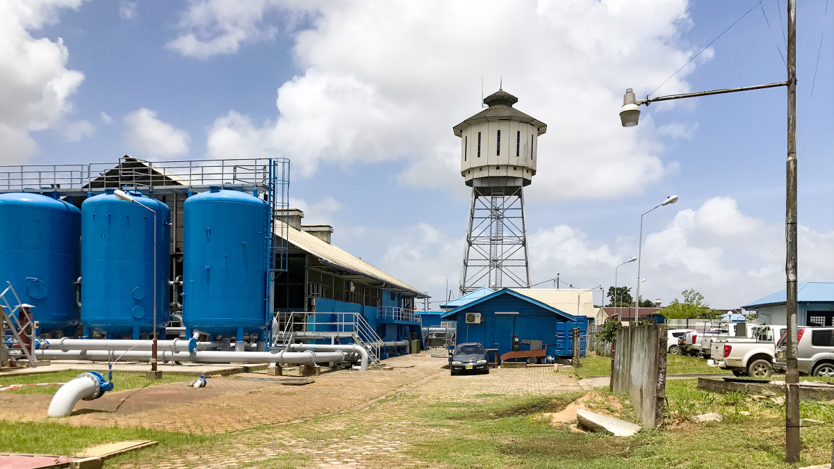 Paramaribo, Suriname: Drinking water treatment at Suriname Water Supply Company