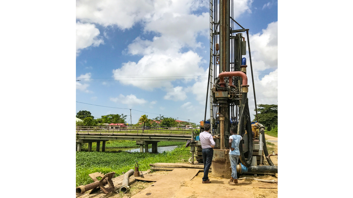 Paramaribo area, Suriname: Drilling of new groundwater well