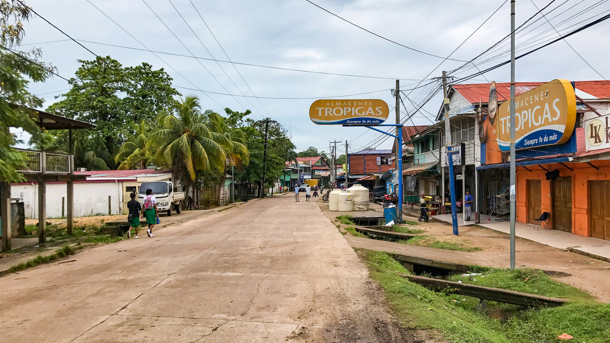 Puerto Cabezas, Nicaragua: Downtown, to be supplied with new water pipeline from River Likus