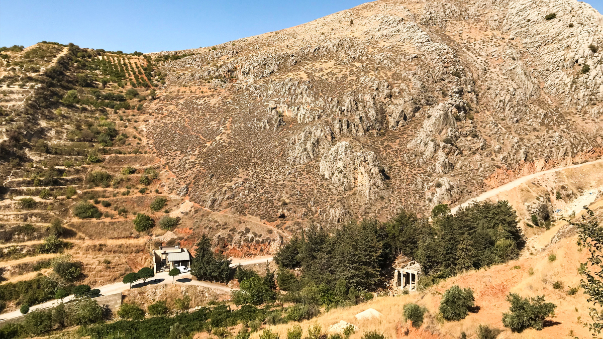 Potential site for solar panel installation in West Baalbek area