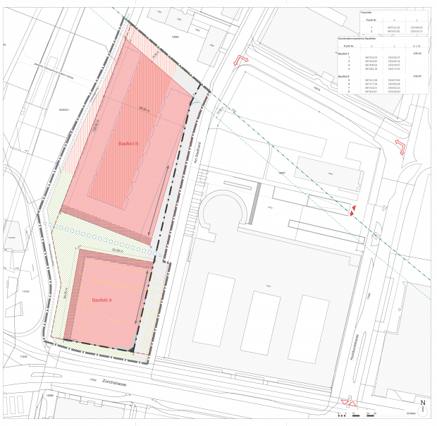 Development plan for the Hoffnig site