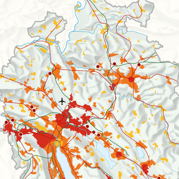 Map Spatial Development Strategy for the Canton of Zürich